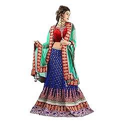 Aagaman Fashions Net Lehenga Choli (TSSF10001_Blue)