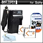 2 Pack Battery And Charger Kit For Sony Cyber-Shot DSC-QX100, DSC-QX10, DSC-WX9 DSC-W690, DSC-WX50, DSC-WX70, DSC-WX150, DSC-WX80/B DSC-TX30/B DSC-W710/B DSC-W710 DSC-W730 Digital Camera Includes 2 Extended Replacement (1100Mah) NP-BN1 Batteries + Charger