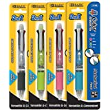 BAZIC 2-In-1 Mechanical Pencil and 4-Color Pen with Grip(colors may vary)