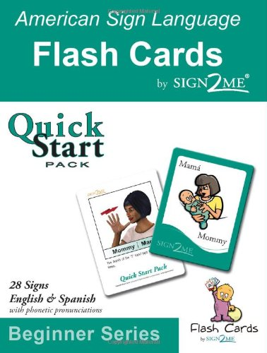 Sign2Me - ASL Flashcards: Beginners Series - Quick Start Pack (Incl. ASL + English + Spanish) (American Sign Language) (Spanish Edition)