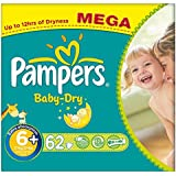 Pampers Baby De Taille Sec 6+ Extra Large