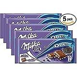 Milka Oreo Alpine Milk Chocolate, 3.5 oz Bar (MILK OREO, PACK OF 5) (Tamaño: 3.5 Ounce (Pack of 5))