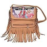 Aquila Denim Brown Color Sling Bag
