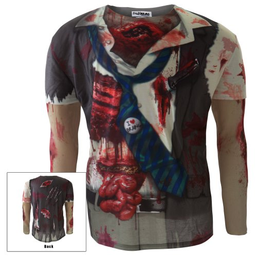 Old Glory Men's Faux Zombie Long Sleeve Costume