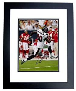 Andre Johnson Autographed Hand Signed Houston Texans 8x10 Photo BLACK CUSTOM FRAME by Real Deal Memorabilia