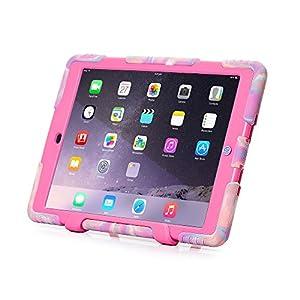 Ipad Case,Ipad Mini 2 Case,Ipad Mini 3 Case,ACEGUARDER® ipad mini case Case for kids Rainproof Shockproof Anti-Dirt Drop Resistance Case(pink camo-rose) by ACEGUARDER