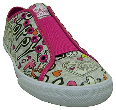Amazon.com: Coach Bev Poppy Graffiti Heart Sneakers Blk/Wht Mult