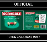 SCRABBLE OFFICIAL DESK BLOCK CALENDAR 2013 (ONE PAGE PER DAY) + FREE SCRABBLE FRIDGE MAGNET