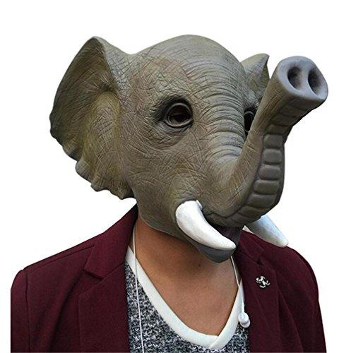 Skue Halloween Novelty Deluxe Latex Animal Masks Costume Party Elephant Mask (Giraffe Deluxe Latex Mask)