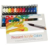 Pro-Art Premiere Acrylic Paints, 22ml, Assorted Colors, 24-Pack
