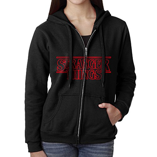 Stranger Things Zip Front Hooded Sweatshirt