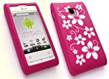 EMARTBUY LG GT540 OPTIMUS SILICON CASE/COVER/SKIN FLORAL HOT PINK