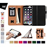 iPad Mini 4 Case Cover, FYY [Super Functional Series] Premium Leather Case Stand Cover with Card Slots, Note Holder, Quality Hand Strap and Elastic Strap for iPad Mini 4 Black (With Auto Wake/Sleep Feature)