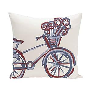 Amazon.com - E By Design La Bicicleta Geometric Print Pillow, 26-Inch