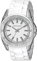 Anne Klein Women's 109179WTWT Stainless Steel Swarovski Crystal-Accented Watch