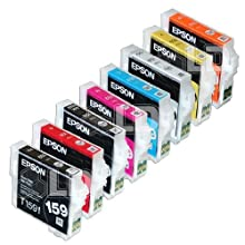 Epson UltraChrome Hi-Gloss 2 Ink Cartridges For Epson Stylus R2000 Photo Printer (Set Of 8)