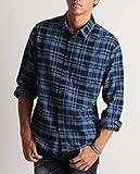 (バレッタ) Valletta ネルチェックシャツ 長袖 メンズ ネルシャツ チェック柄 起毛 暖かい 腰巻き 肩掛け ストリートモード カジュアル 29ブルー×ネイビー Mサイズ