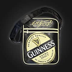 Guinness Label Black Shoulder Bag