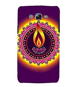 printtech Diwali Festival Diya Back Case Cover for Samsung Galaxy E7 / Samsung Galaxy E7 E700F
