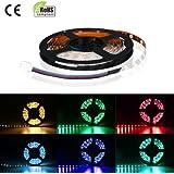 LE 12V Flexible RGB LED Strips, LED Tape, Multi Colour, LED Ribbon Lights, Non Waterproof, Ultimate DIY Lighting, Pack of 5m