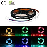 RGB LED Strips, Color Changing Light Strip, Flexible, Pack of 16.4ft/5mby LWI