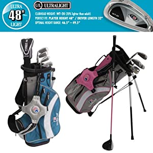 US Kids ULTRALIGHT 48 5-Club Carry Bag Set (Left Hand) by US Kids