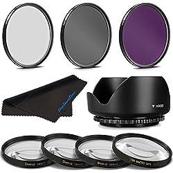 67MM Professional Macro & Lighting Filter Kit for Schneider PC-Super-Angulon 28mm f/2.8, 67 mm CPL + UV + FLD + 4 Piece Close Up Kit & 67 mm Lens Hood, 67mm Filter Bundle
