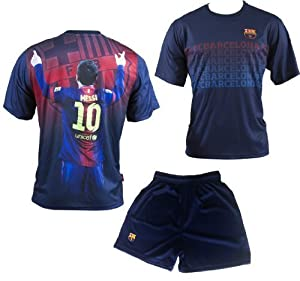 Maillot + short Lionel MESSI - N°10 - FC BARCELONE - Collection officielle - FC BARCELONA - BARCA - Football club Espagne - Taille enfant