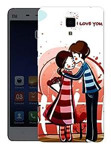 "Humor Gang Love Couple Cute Printed Designer Mobile Back Cover For ""Xiaomi Redmi Mi4"" (3D, Matte, Premium Quality Snap On Case)"