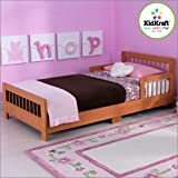 KidKraft Slatted Honey Toddler Bed 86923