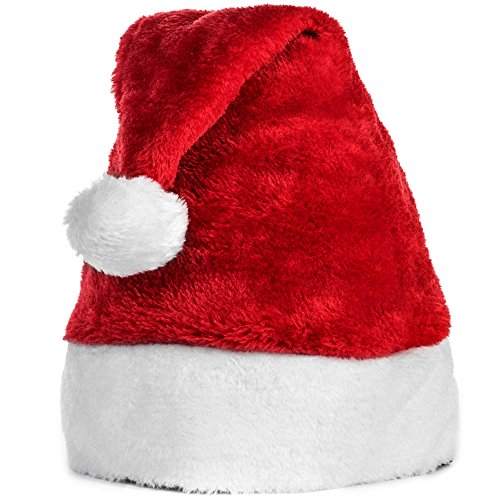 Official Plush Santa Claus Hat & Comfort Liner Christmas Halloween Costume (Customer Images compare prices)