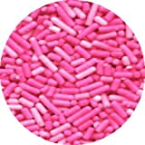 Pink Cake Decorations - PINK JIMMIES EDIBLE Candy Confetti Sprinkles for Cakes, Cupcakes & Cookies