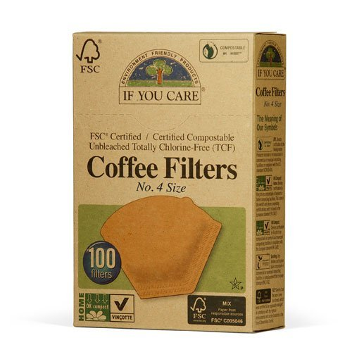 If You Care Unbleached Coffee Filters, #4 cone, 100 count. (Coffee Filters Unbleached compare prices)