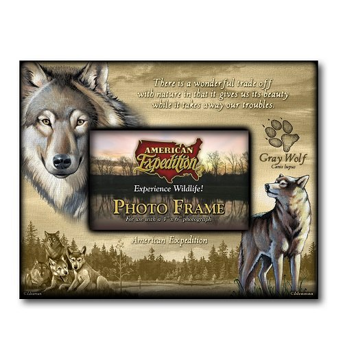 American Expedition Gray Wolf Canvas Photo Frame