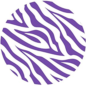 Purple and white zebra print