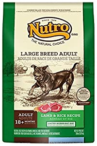 NUTRO Large Breed Adult Dog Food Lamb and Rice Recipe 30 Pounds