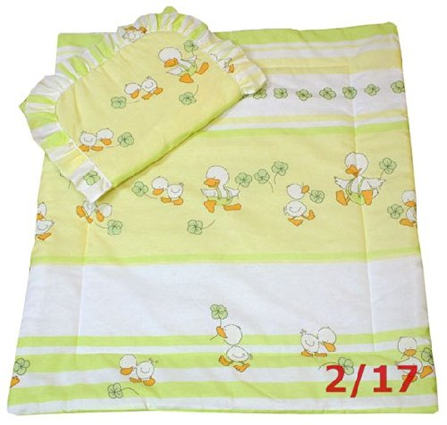 Ducks In Green Bassinet / Stroller Bedding