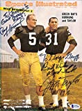 "Green Bay Packers Greats Autographed Sports Illustrated Magazine Cover""To Pooley"" With 4 Total Signatures Including Hornung & Taylor Beckett BAS #A77181"