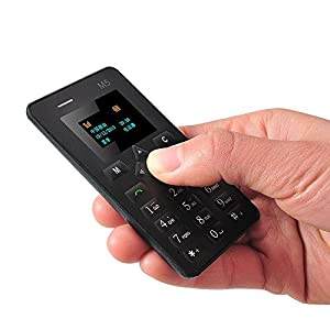 Worlds ultra Slimmest ATM Card Mobile Phone M5 Black