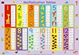 "Little Wigwam Multiplication Tables Chart - ""No Tear Guarantee"" Educational Poster (60 x 42cm / 24 x 17 inches)"