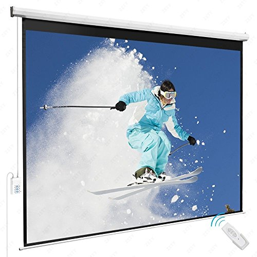 100'' 4:3 Electric Remote Control Projection Screen HD Movie Theater Matte White (Motorized Couch compare prices)