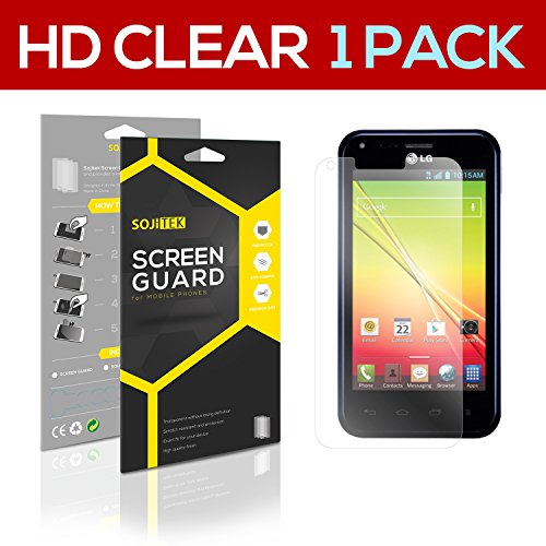 Sojitek Lg Optimus F3Q Lg D520 Premium Ultra Crystal High Definition (Hd) Clear Screen Protector [1-Pack] - Lifetime Replacements Warranty + Retail Packaging