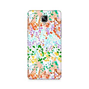 Ebby Floral Colored Abstract Premium Printed Case For OnePlus Three