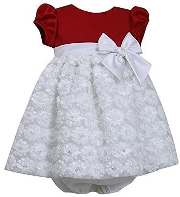 White Bonaz Baby Girl Christmas Dress by Bonnie Baby