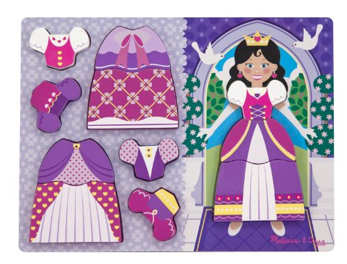 Melissa & Doug Princess Dress-Up Chunky Puzzle