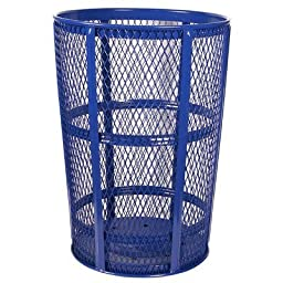 Witt Industries EXP-52BL Steel 48-Gallon Outdoor Waste Receptacle, Round, 23\