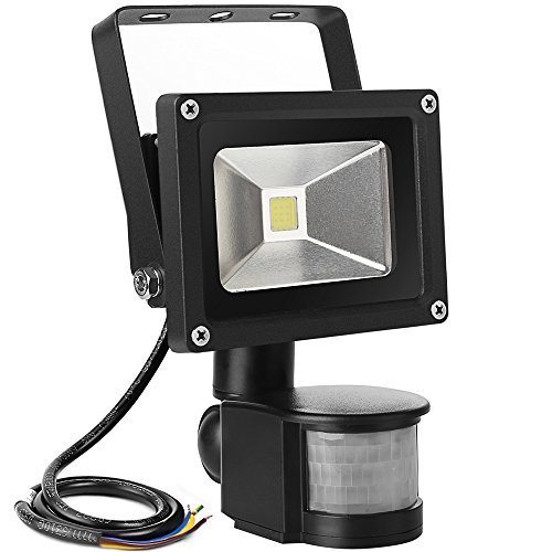 LE 10W Super Bright Motion Sensor Flood Light, Outdoor LED Flood Lights, 700lm, 100W Equivalent, 6000K Daylight White, Waterproof LED Security Light, PIR Floodlight, Basement Light (Outdoor Floodlight Sensor compare prices)