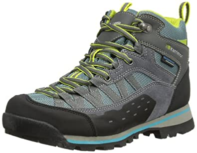 Karrimor Spike Mid Weathertite, Women High Rise Hiking Shoes, Grey (Grey/Blue (Gbl)), 4 UK (37 EU)