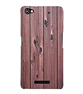 printtech Wooden Design Back Case Cover for Micromax Canvas Hue 2 A316