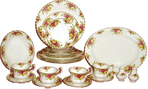 Royal Albert Old Country Rose 24-Dinnerware Piece Set, Service for 4
